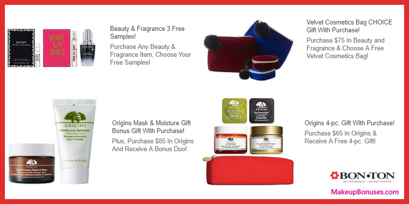 Receive a free 4-pc gift with your $65 Origins purchase