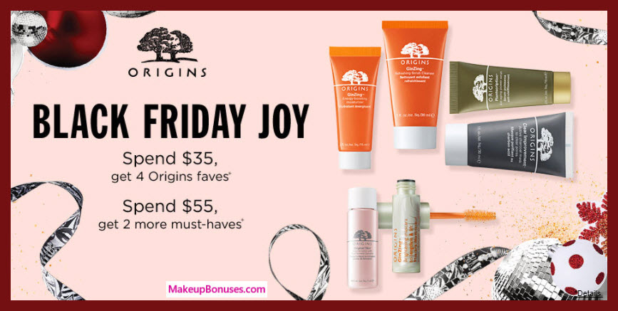 Receive a free 4-pc gift with your $35 Origins purchase