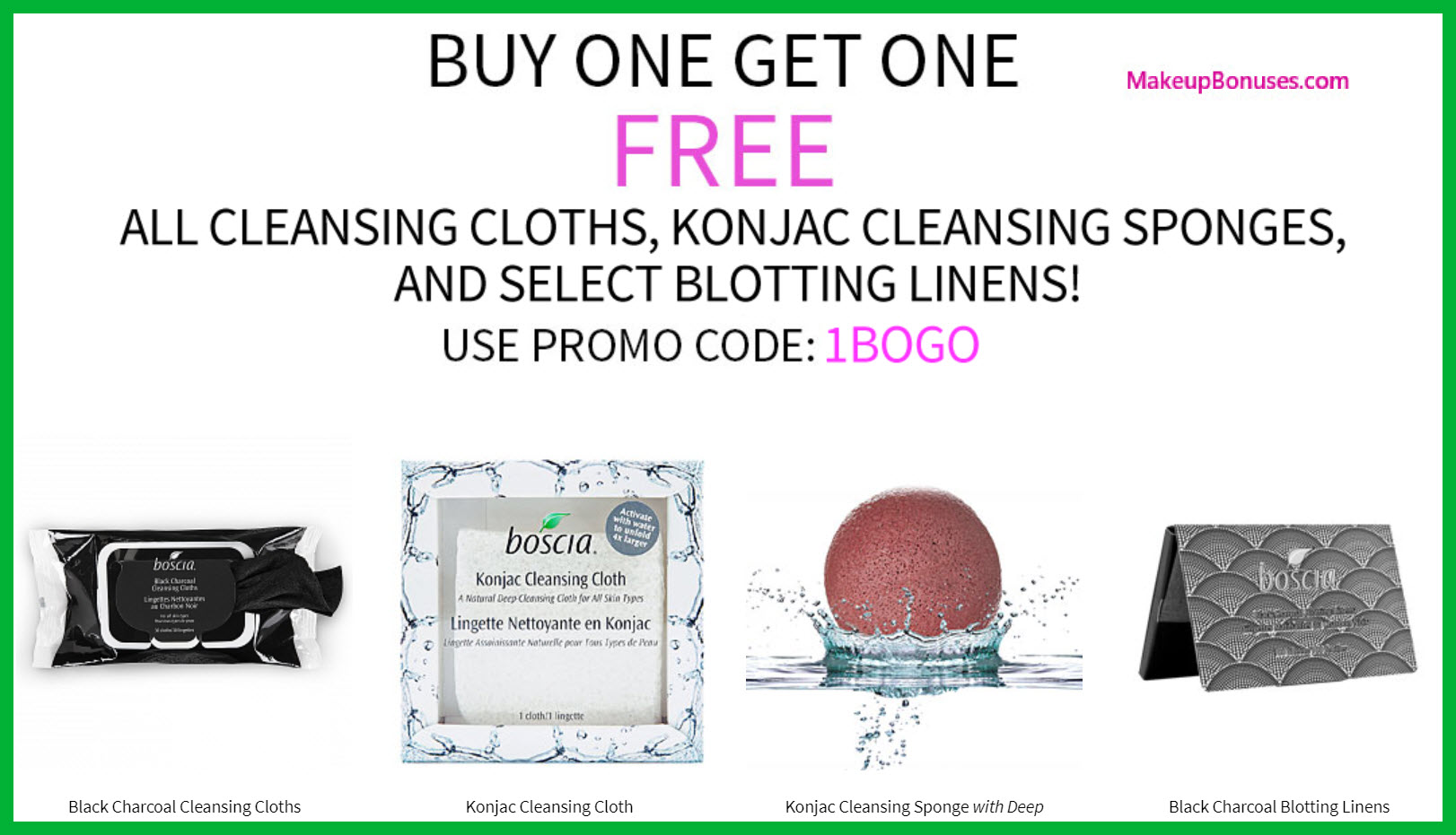 Receive a free 3-pc gift with your 3+ Cleansing Cloths, Konjac Sponges, Select Blotting Linens purchase