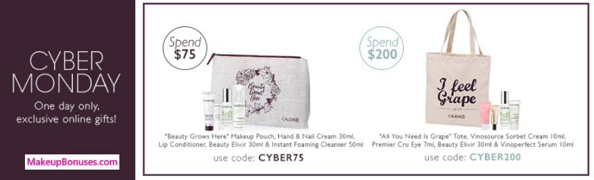 Receive a free 5-pc gift with your $75 Caudalie purchase