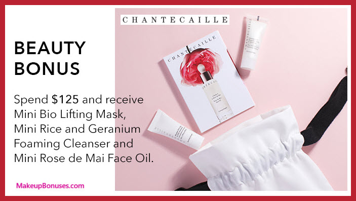 Receive a free 3-pc gift with your $125 Chantecaille purchase