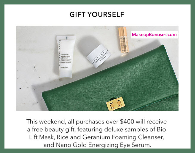 Receive a free 4-pc gift with your $400 Chantecaille purchase