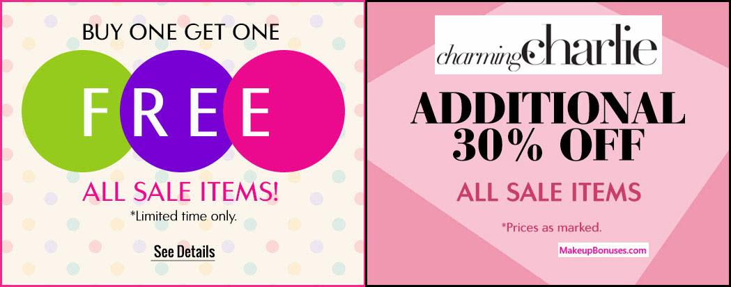 Charming Charlie Sale - MakeupBonuses.com