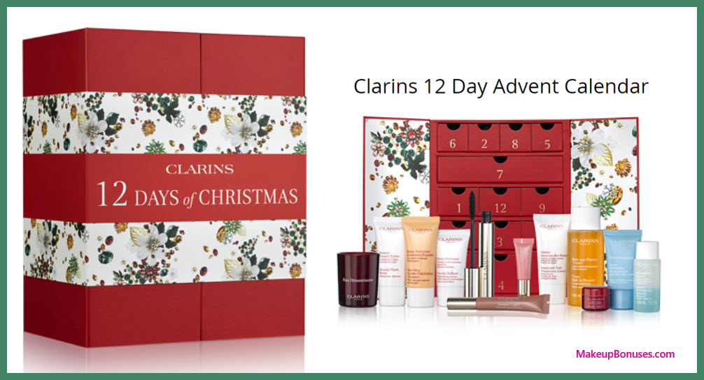 Clarins 12 Day Advent Calendar- MakeupBonuses.com