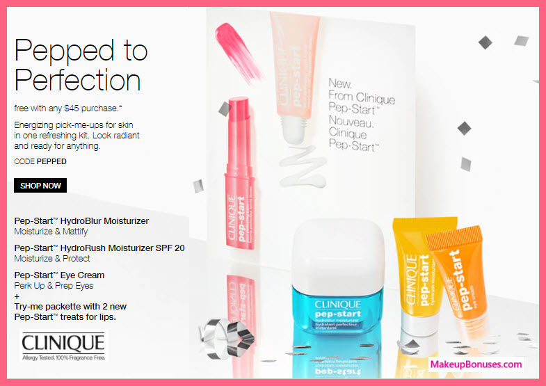 Receive a free 4-pc gift with your $45 Clinique purchase