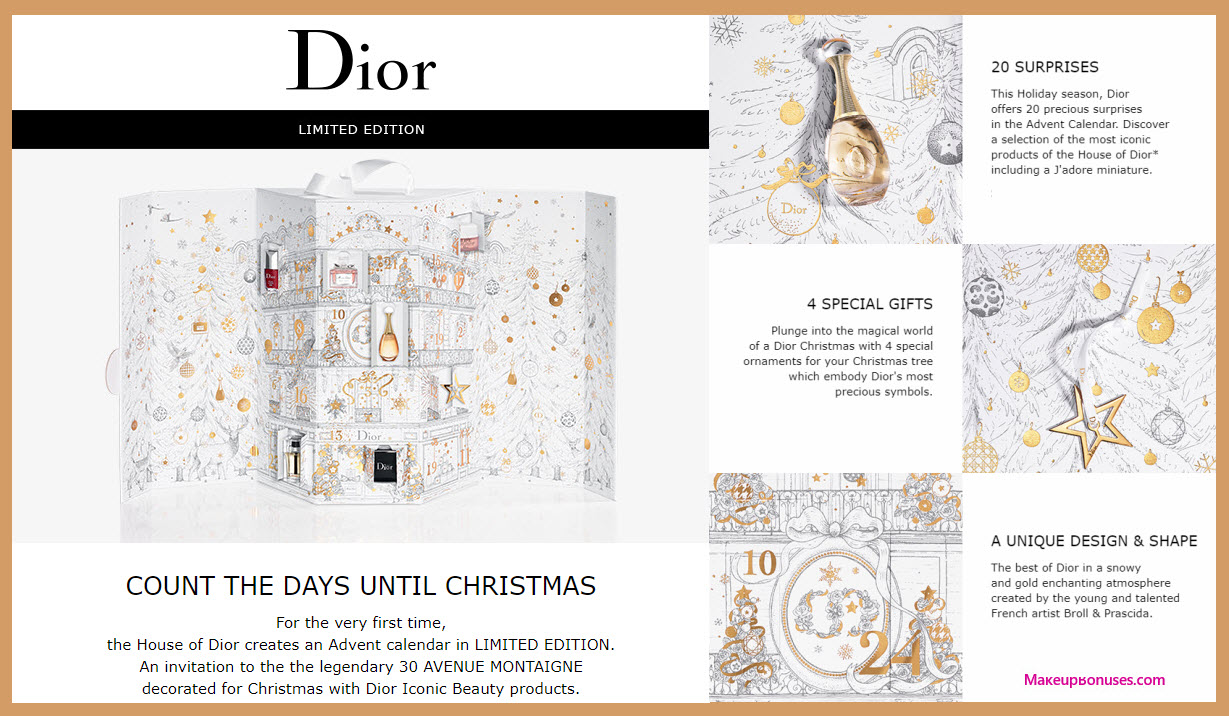 House of Dior limited edition advent calendar- MakeupBonuses.com