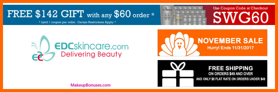 Receive a free 18-pc gift with your $60 Multi-Brand purchase