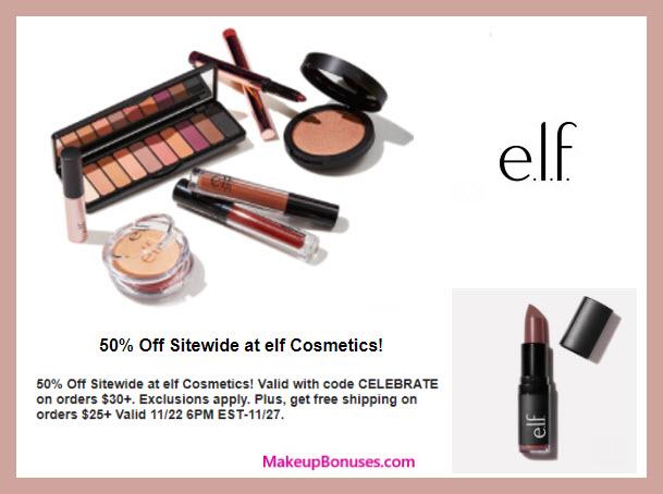 ELF Cosmetics Sale - MakeupBonuses.com