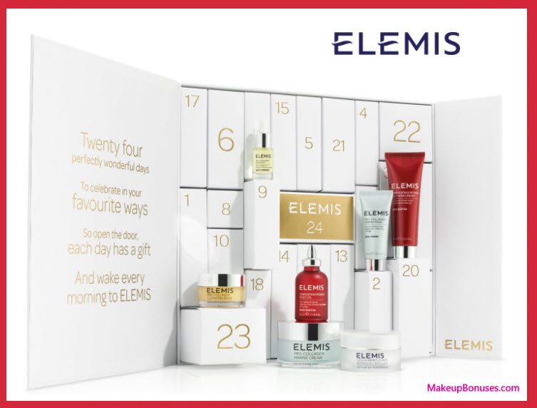 Online Exclusive ELEMIS Advent Calendar- MakeupBonuses.com