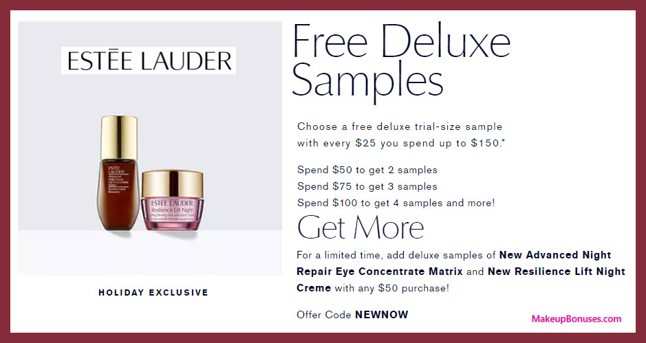 Receive a free 4-pc gift with your $50 Estée Lauder purchase