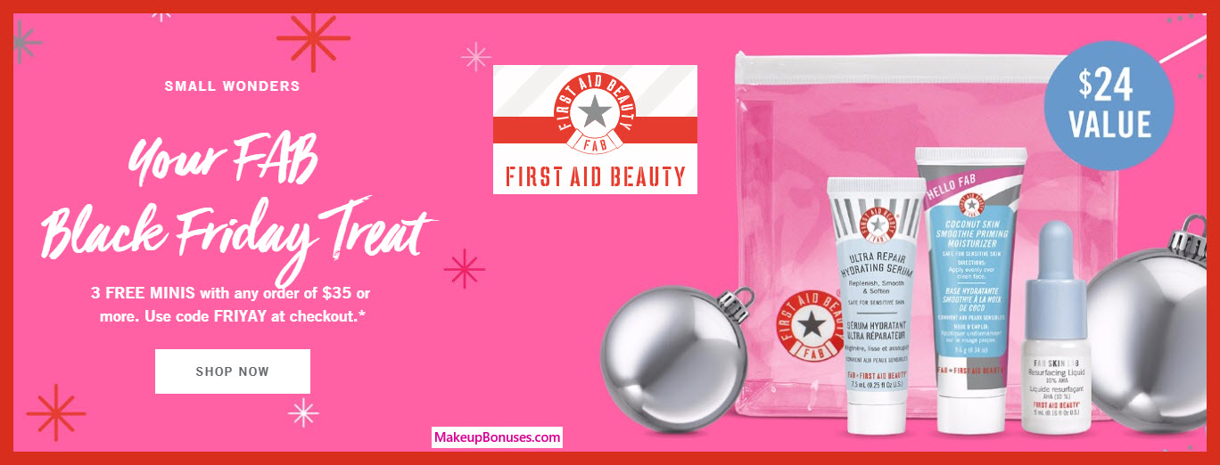 Receive a free 3-pc gift with your $35 First Aid Beauty purchase