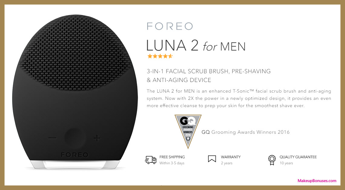 LUNA 2 for MEN - MakeupBonuses.com