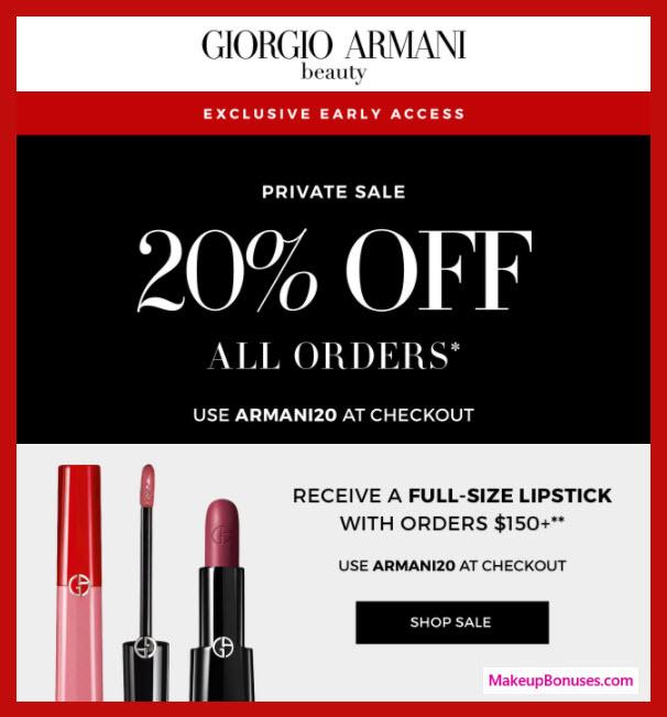 Giorgio Armani Sale - MakeupBonuses.com