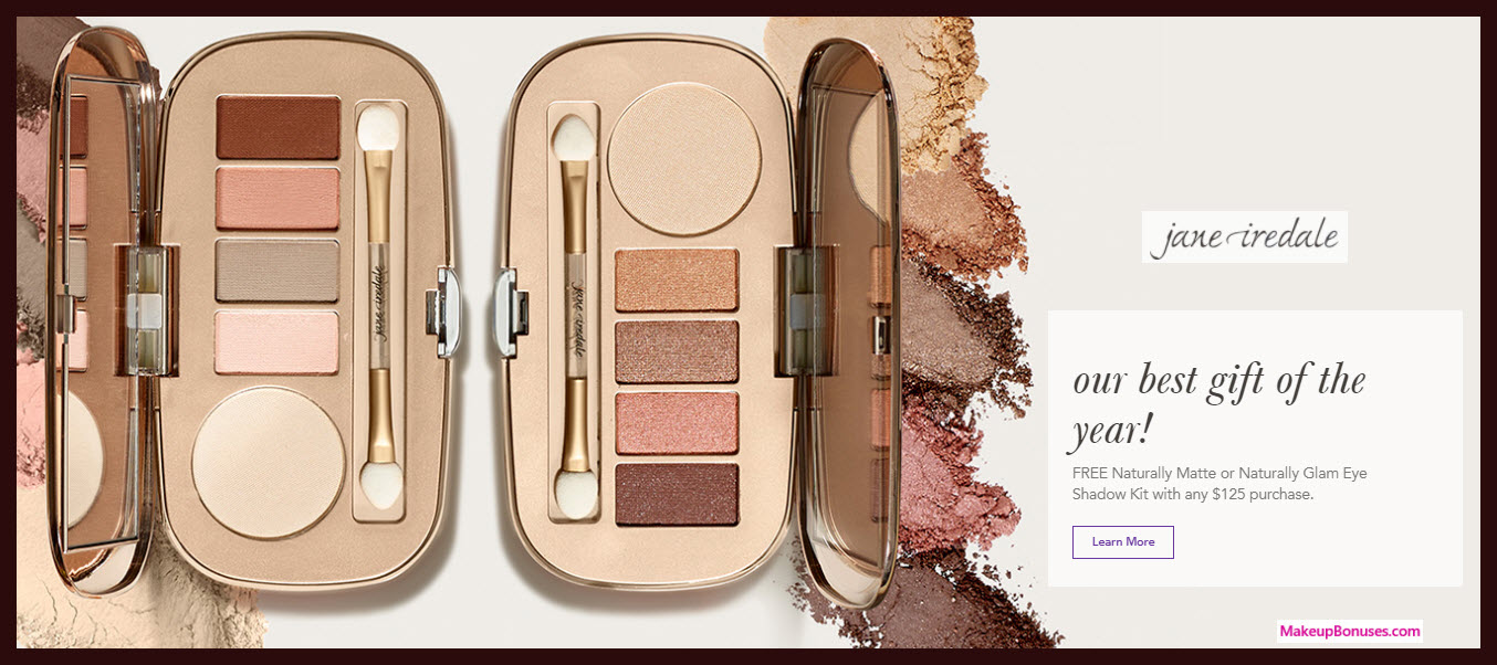 Receive a free 5-pc gift with your $125 Jane Iredale purchase