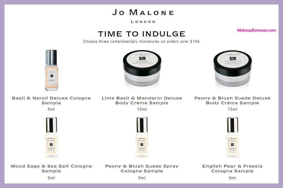 Jo Malone 3 Piece Free Bonus Gift Makeup Bonuses