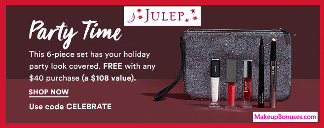 Receive a free 6-pc gift with your $40 Julep purchase
