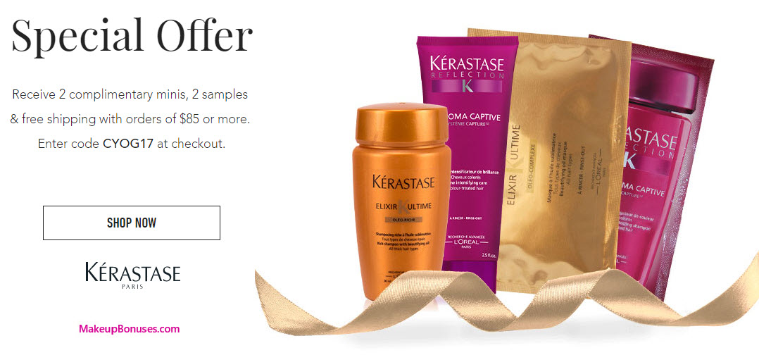 Receive a free 4-pc gift with your $85 Kérastase purchase