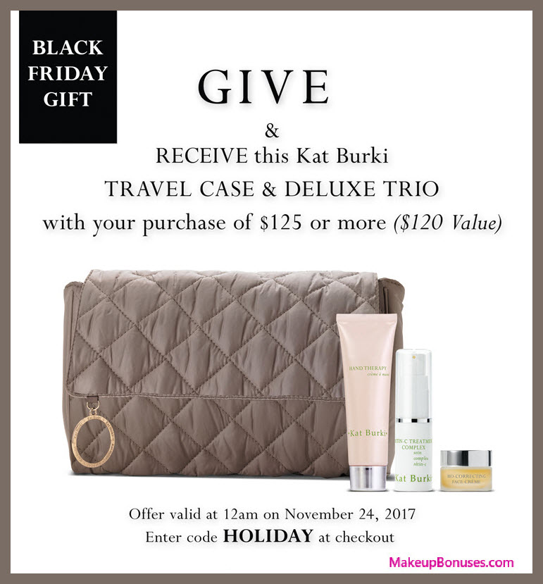 Receive a free 4-pc gift with your $125 Kat Burki purchase