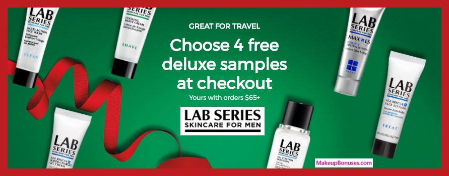 Receive your choice of 4-pc gift with your $65 LAB SERIES purchase