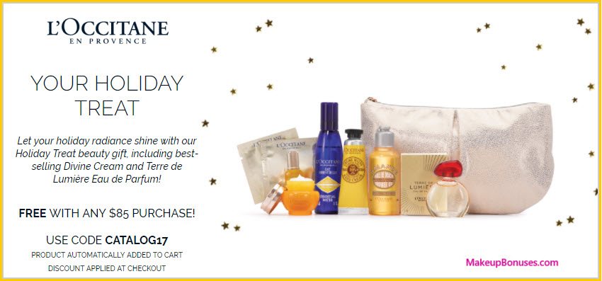 Receive a free 8-pc gift with your $85 L'Occitane purchase
