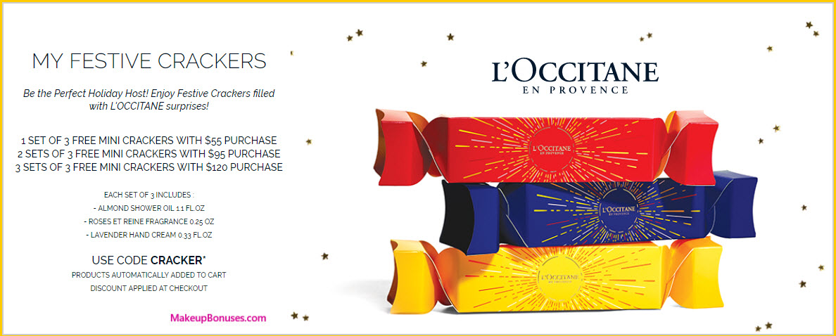 Receive a free 3-pc gift with your $120 L'Occitane purchase