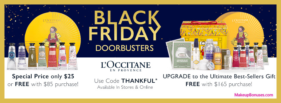 Receive a free 15-pc gift with your $165 L'Occitane purchase