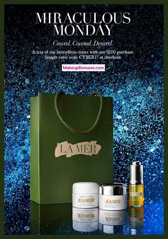 Receive a free 3-pc gift with your $100 La Mer purchase