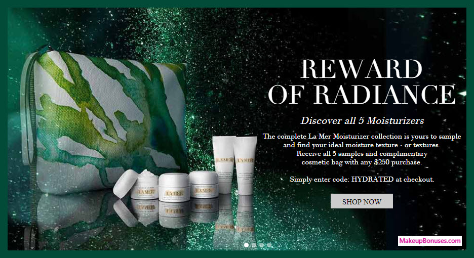 Receive a free 6-pc gift with your $250 La Mer purchase
