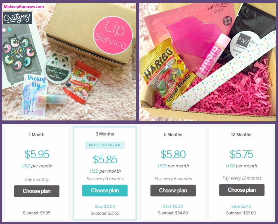 Lip Service Monthly Lip Balm & Fun Box - MakeupBonuses.com