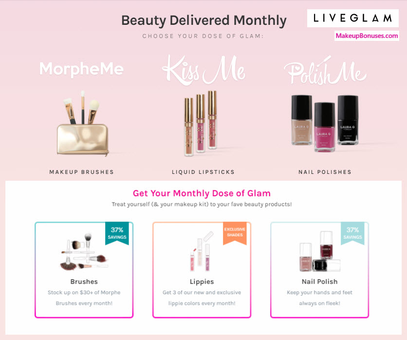 LiveGlam MorpheMe Makeup Brushes Beauty Box - MakeupBonuses.com