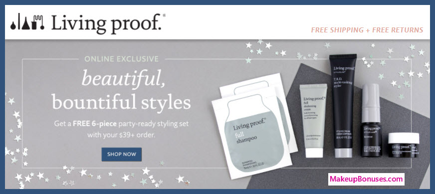 Receive a free 6-pc gift with your $39 Living Proof purchase