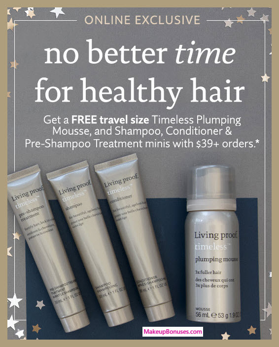 Receive a free 4-pc gift with your $39 Living Proof purchase