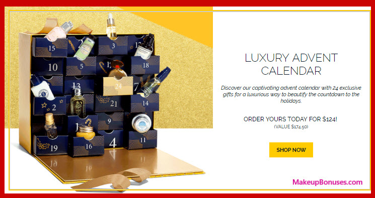 Luxury Advent Calendar- MakeupBonuses.com