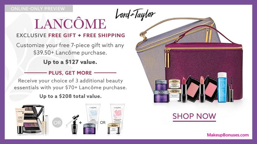 Lancôme Free Beauty Bonus Gifts