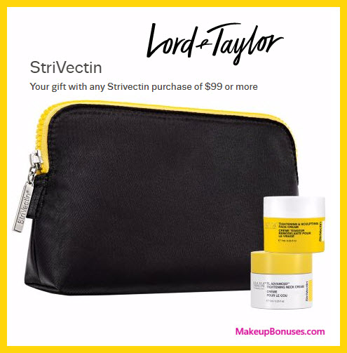 Receive a free 3-pc gift with your $99 StriVectin purchase