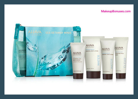 Receive a free 5-pc gift with your $40 AHAVA purchase