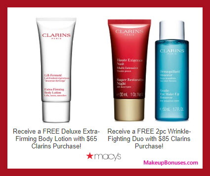 Receive a free 3-pc gift with your $85 Clarins purchase