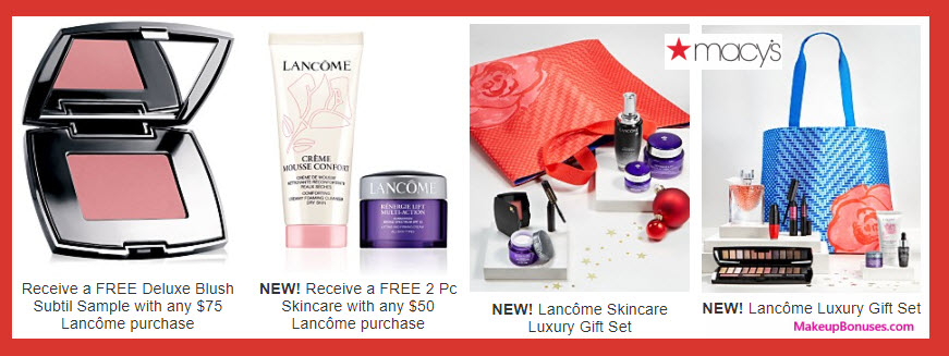 Receive a free 3-pc gift with your $75 Lancôme purchase