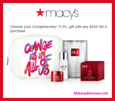 Receive a free 11-pc gift with your $450 SK-II purchase