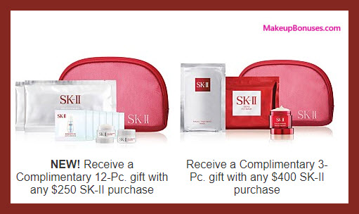 Receive a free 12-pc gift with your $250 SK-II purchase