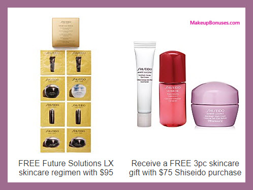 Receive a free 11-pc gift with your $95 Shiseido purchase