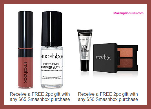 Receive a free 4-pc gift with your $65 Smashbox purchase