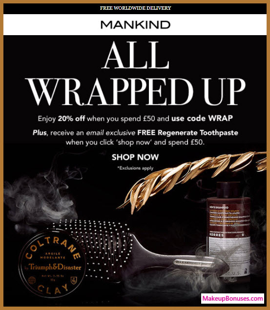 Mankind Sale - MakeupBonuses.com