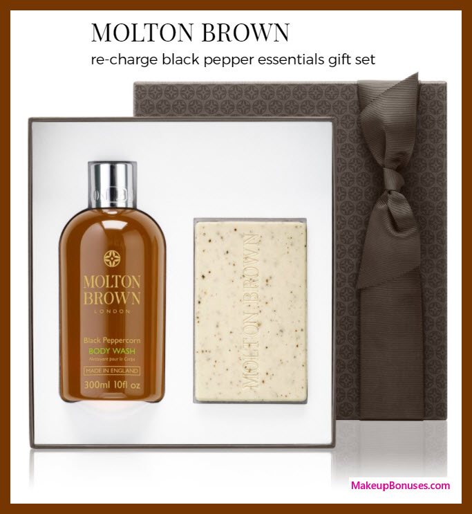 MOLTON BROWN re-charge black pepper essentials gift set - MakeupBonuses.com