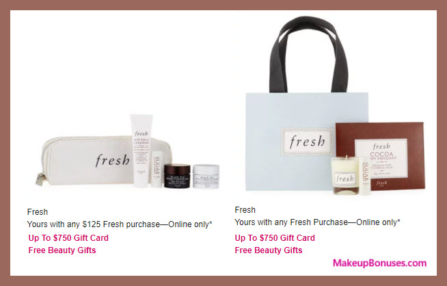 Receive a free 4-pc gift with your any purchase