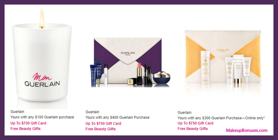 Receive a free 6-pc gift with your $300 Guerlain purchase