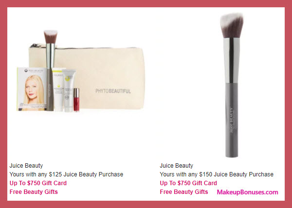 Receive a free 4-pc gift with your $125 Juice Beauty purchase