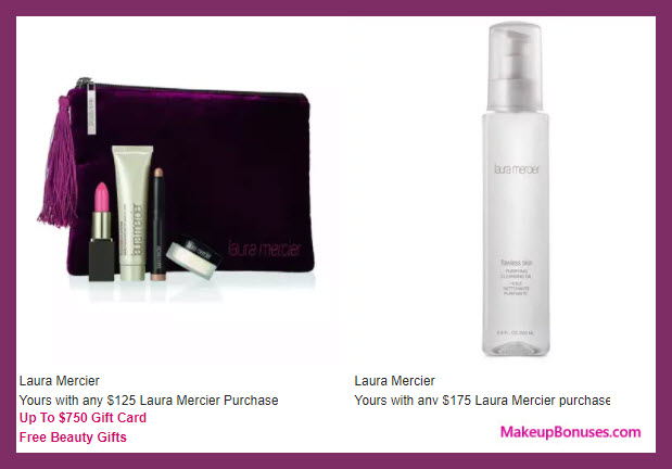Receive a free 5-pc gift with your $125 Laura Mercier purchase