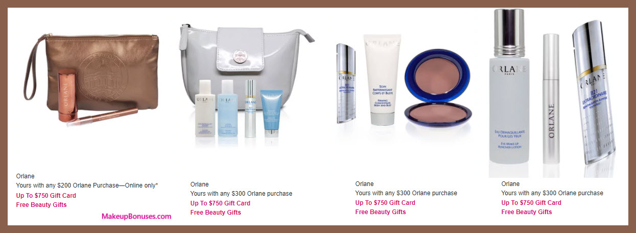 Receive a free 3-pc gift with your $200 Orlane purchase