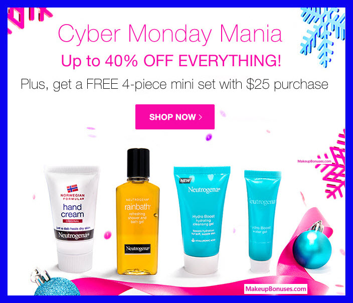 Receive a free 4-pc gift with your $25 Neutrogena purchase